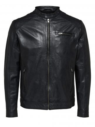 Selected classic leather jacket