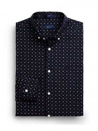 Gant micro scribble print shirt