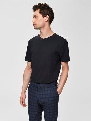 Selected New Pima V-neck T-shirt