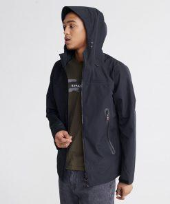 Superdry hydrotech jacket black