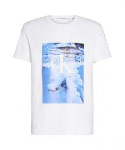 Calvin Klein Jeans Wave Photoprint T-shirt White