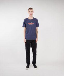 Makia Steamboat T-shirt Navy